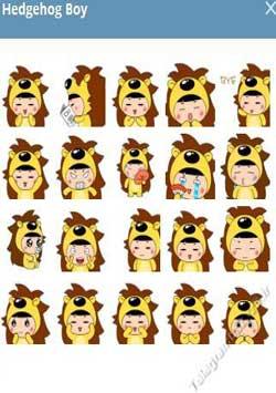 استیکر تلگرام Hedgehog Boy