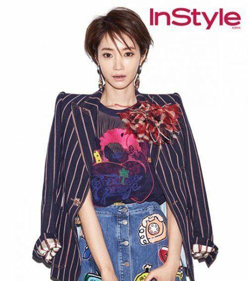 عكس go jun hee براي مجله instyle