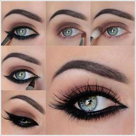 آموزش تصویری آرایش چشم زیبا