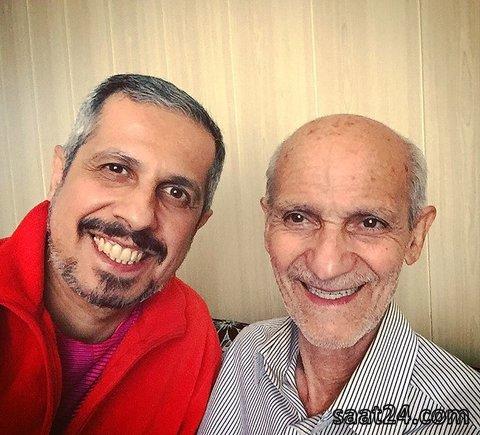 آقای بازیگر در کنار پدرش/عکس