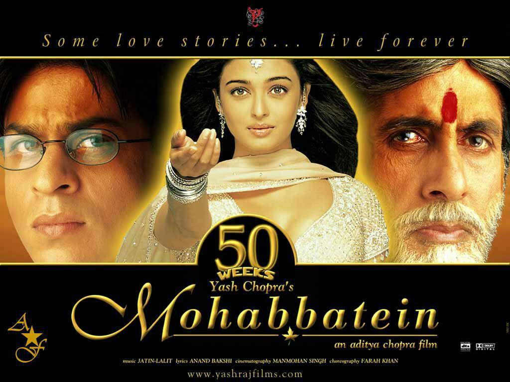 عکس های بسیار زیبا از شاهرخ خان و آیشواریا در فیلم رمانتیک محبتین