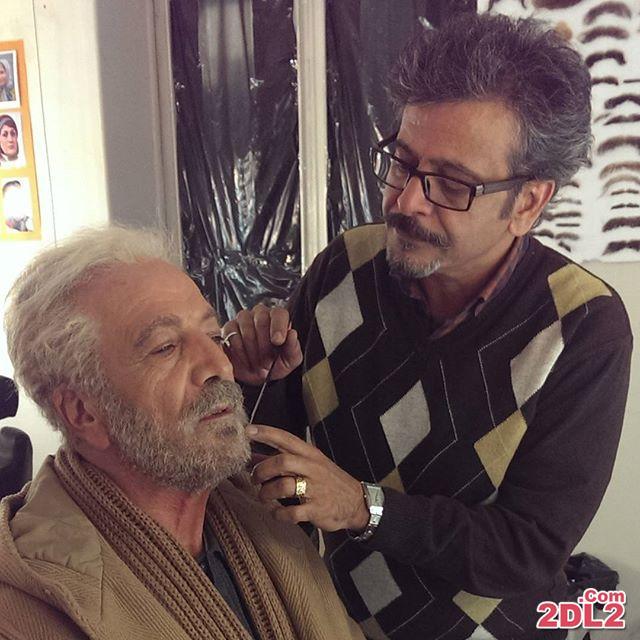 عکسی از بازیگر ایرانی در اتاق گریم