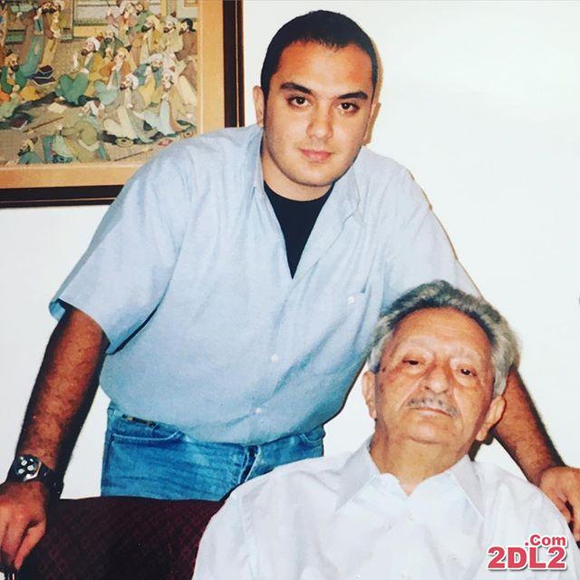 عکس مجری معروف در کنار دایی اش