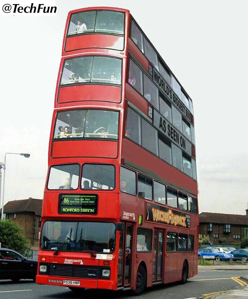 نتیجه تصویری برای بزرگترین اتوبوس جهان