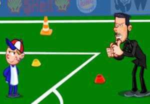 آموزش سیمئونه به توپ جمع کن ها قبل بازی با بایرن