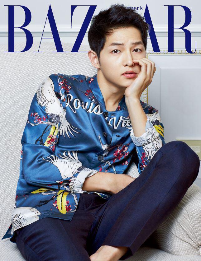 عکســایـــ سونگ جونگـ کی  song jung ki 🙈❤️  برای مجلهه ی BAZAAR ⛱🗺