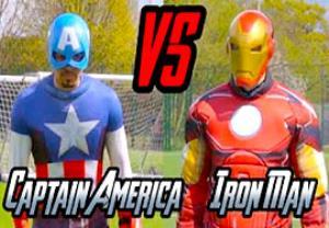 چالش هدف گیری جذاب و دیدنی کاپیتان آمریکا و مرد آهنی