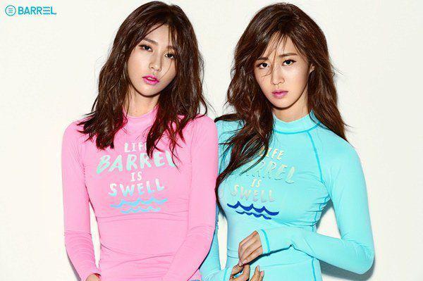 عکس های ورزشی و جذاب Yuri و Vivian برای برند Barrel