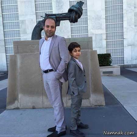 عکس کامران نجف زاده و پسرش