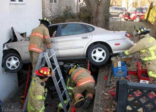 تصاویری جالب و دیدنی از تصادفات رانندگی خانم ها
