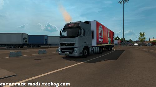 کامیون بسیار زیبای ولوو fh13 + تریلر kogel برای بازی یورو تراک