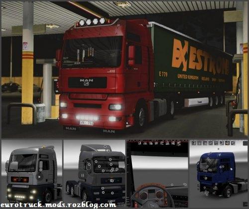 دانلود کامیون مان TGA ورژن 2.3 برای یورو تراک