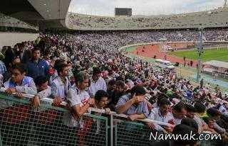 سقوط تماشاگر استقلال از بالای سکوهای استادیوم آزادی!