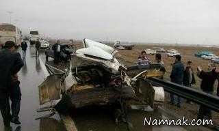 جزئیات تصادف زنجیره ای 30 خودرو در اتوبان قزوین-کرج