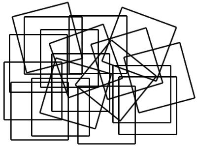 تست هوش: چهارگوش های در هم پیچیده!