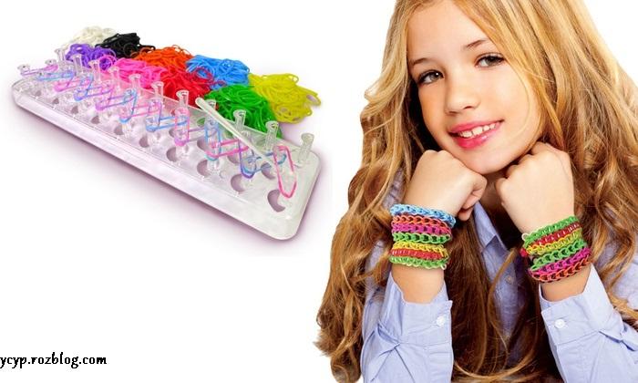 دستبند بسیار زیبایی فانی بافت Loom Bands