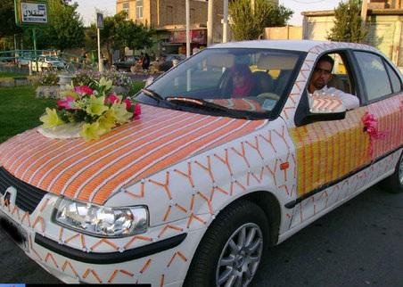 اگه گفتین این ماشین عروس با چی درست شده؟؟؟!!!