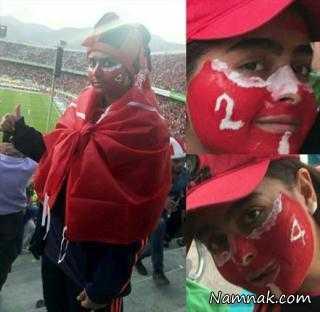 ترفند دختر پرسپولیسی برا رفتن به ورزشگاه آزادی لو رفت! + عکس