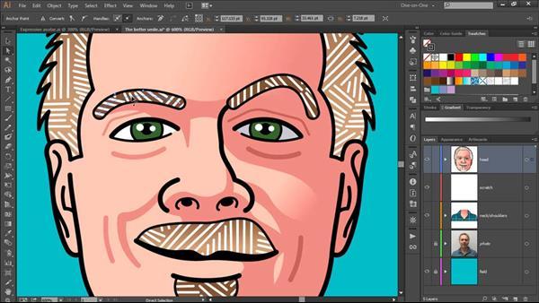 اموزش طراحی اواتار در ایلاستریتر از سایت لیندا