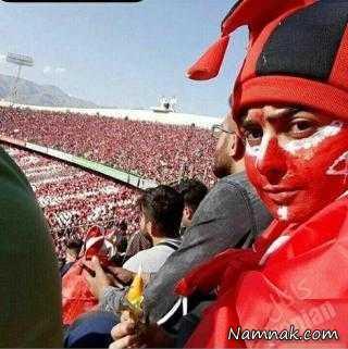 دختری که وارد ورزشگاه آزادی شده بود تهدید به سوزاندن شد!