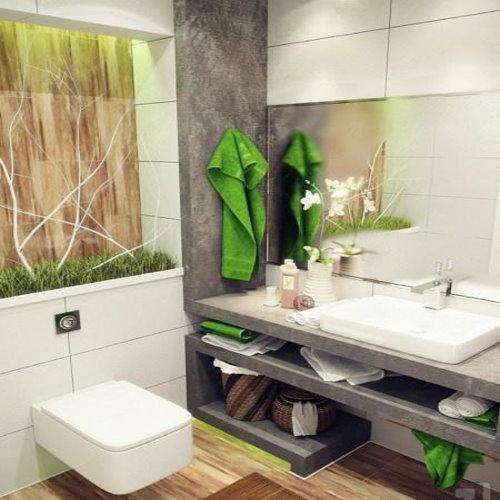 مدل شیک و مدرن طراحی حمام و دستشویی کوچک 2016-95