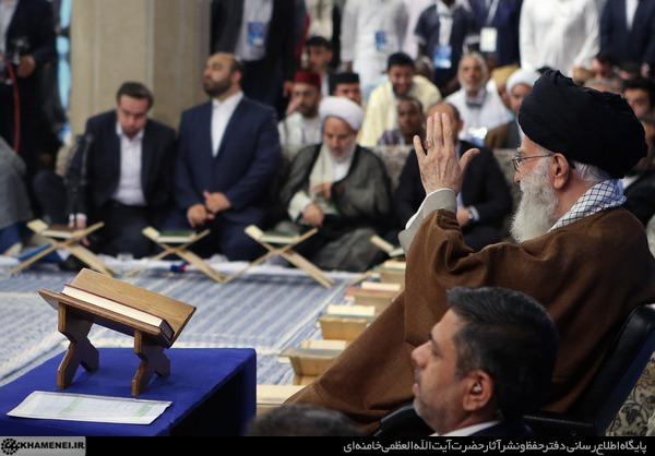 بیانات در دیدار قاریان و حافظان برتر شرکتکننده در مسابقات بینالمللى قرآن کریم