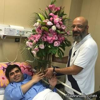 عیادت بازیگران از امیر نوری در بیمارستان + تصاویر