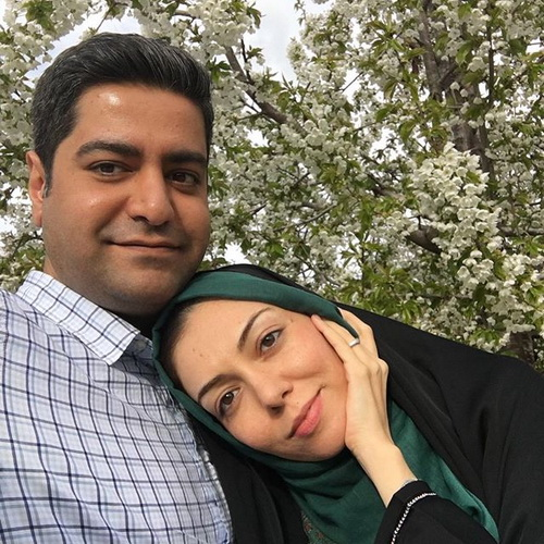 سلفی جدید آزاده نامداری با همسرش سجاد عبادی + عکس
