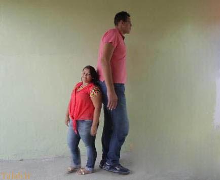 ازدواج زن و شوهری با قد های متفاوت
