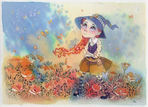 عکس نقاشی شده دختر