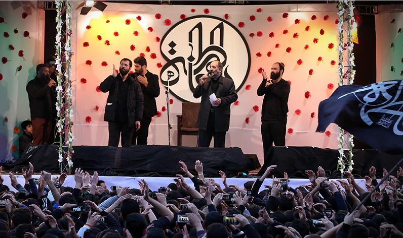 حاج حسین سیب سرخی-تصاویر بدرقه فاطمیه