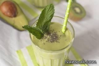 طرز تهیه نوشیدنی آووکادو و میوه های سبز