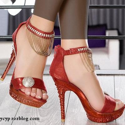 مدل های جدید کفش های مجلسی پاشنه بلند دخترانه