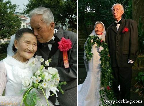 بازسازی جالب عکس ازدواج این زوج پیر