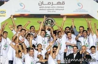 تصاویر مراسم قهرمانی ذوب آهن در جام حذفی