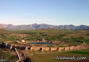 جاذبه های طبیعی وگردشگری ایران در تخت سلیمان + تصاویر