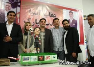 نیوشا ضیغمی و همسرش در جشن تولد احمدرضا عابدزاده + تصاویر