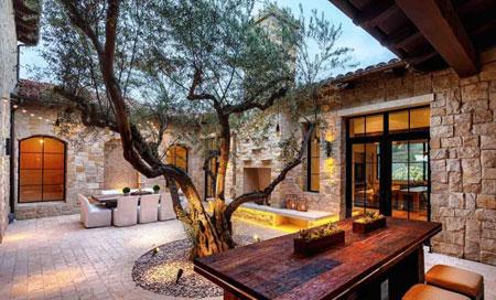 مبلمان و طراحی شیک دکوراسیون فضای بیرونی و باغچه منزل 1395