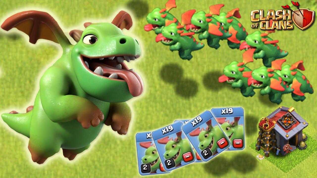 Baby Dragon نیرو جدید بازی کلش اف کلنز