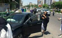 تصادف خونین در ورودی استخر زنانه در تهران! +عکس وفیلم