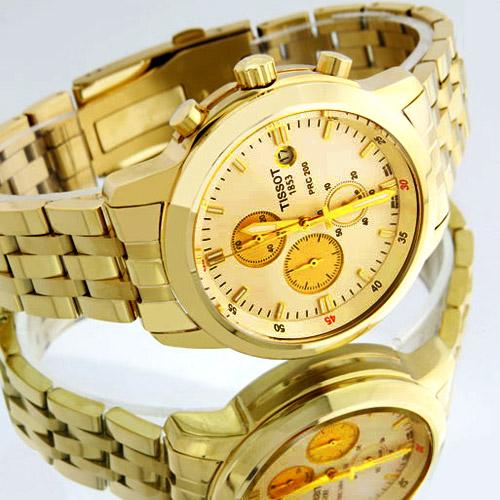 خرید اینترنتی «ساعت مردانه طلايي tissot»
