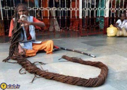 مو بلند ترین مرد جهان که رکورد دار گینس است