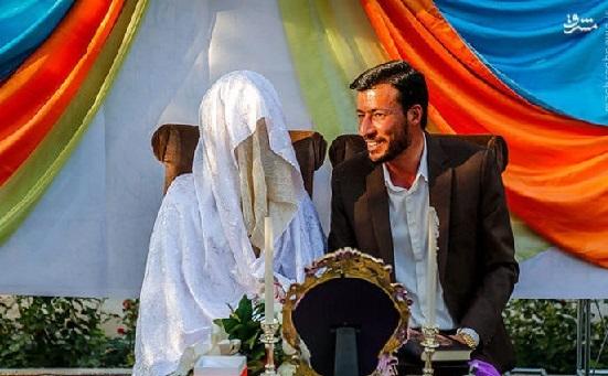 مراسم ازدواج در گلزار شهدای گمنام