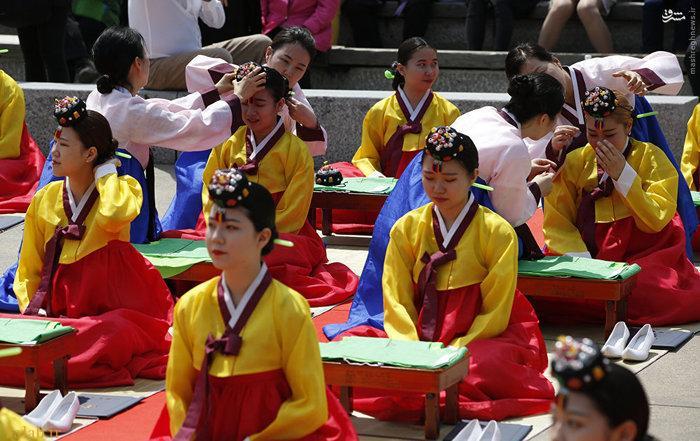 تصاویر جالب و دیدنی  از جشن بلوغ دختران کرهای