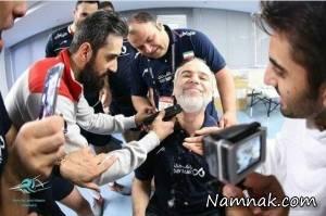 آرایشگری سعید معروف پس از صعود به المپیک! + عکس