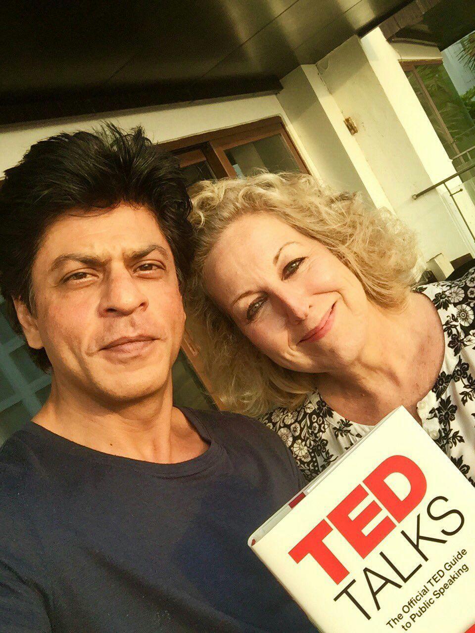 شاهرخ در دیدار با تهیه کننده ی تلویزیون و فیلم آمریکایی-انگلیسی Juliet Blake