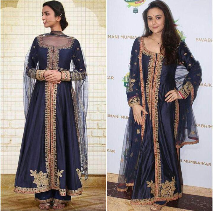 عکس جدید و زیبا پریتی زیتا با لباس هندی زنانه