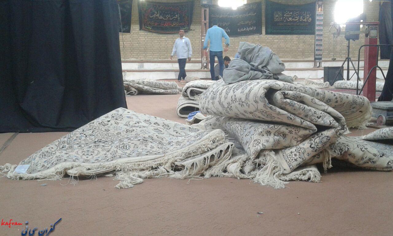 نمایشگاه فرش دستباف در روستای کفران