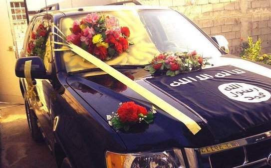 ماشین عروس به سبک داعش + عکس