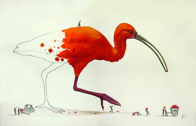 نقاشی های زیبا از حیوانات بازیگوش توسط هنرمند مکزیکی ریکاردو سولیس